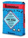 AIR-ONE - цементный клей с высочайшим выходом ( 40%), однокомпонентный, сверхлегкий, с высоким содержанием полимеров