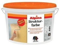 Акриловая краска для создания рельефных покрытий для наружных и внутренних работ ALPINA STRUKTURFARBE