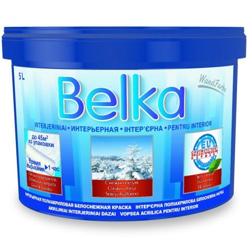 Акриловая краска ВД Belka (10л/12,6кг) белоснежная интерьерная (1литр-8-8,5м кв), красители, доставка