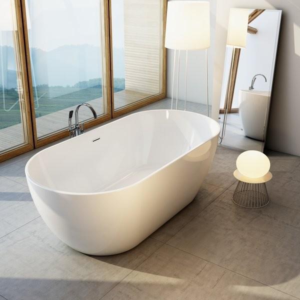 Акриловая ванна Ravak Freedom эксклюзивная отдельно стоящая. Ванна Freedom поставляется в размере 1690 x 800 мм