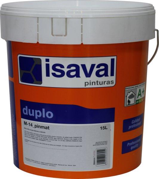 Фото  1 Глубокоматовая краска для потолков и стен М-14 Пинмат ISAVAL 15л до 120м2 1921998