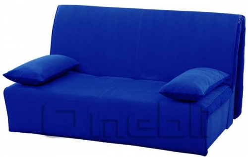 Акварель Аккордеон диван Микрофибра синяя A32169