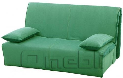 Акварель Аккордеон диван Микрофибра зеленая A32165