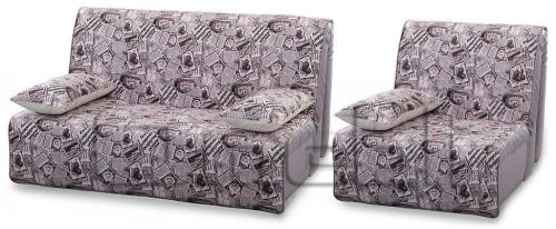 Акварель Аккордеон комплект (диван кресло) Ткань Акварель пресса A32224