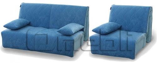 Акварель Аккордеон комплект (диван кресло) Ткань Алоба 27 A32221
