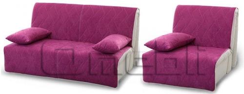 Акварель Аккордеон комплект (диван кресло) Ткань Алоба 39 A32220