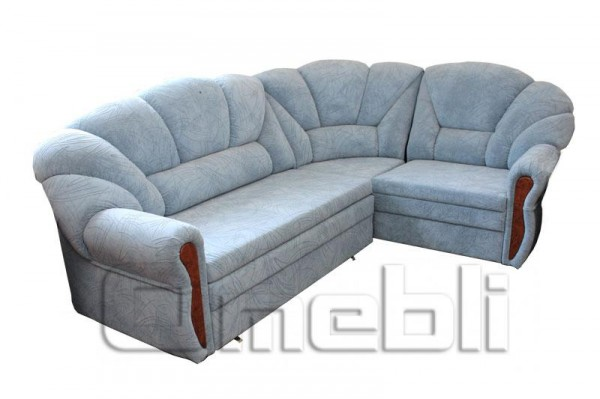 Алиса Угловой диван ткань милд голубой Код A101182