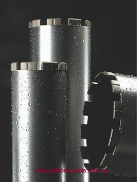 Алмазная коронка 122 длина 450 мм хвостовик 1 1/4 Восстановление алмазных коронок. Напайка сегментов.