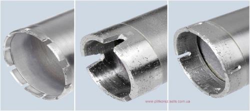 Алмазная коронка 52 длина 450 мм хвостовик 1 1/4 Восстановление алмазных коронок. Напайка сегментов.