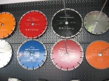 Алмазные круги для настольных пил (работать с применением воды)