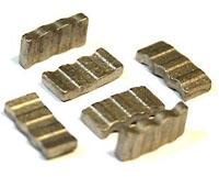 Алмазные сегменты Sharkor FZD для напайки на коронки. Семент самозатачивающийся с высотой 10мм.