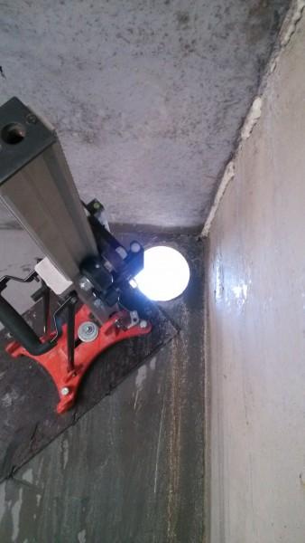 Алмазное сверление бетона, сверление под вытяжку, сверление под кабель, трубу, бетоносверление