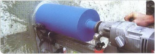Алмазное сверление отверстий диаметром 50 мм.