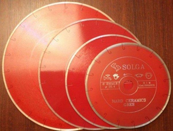 Фото 2 Алмазные круги диски от лучших Solga Diamant 230, 250 по керамогранита, греса 336389