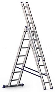 Алюминиевая трехсекционная лестница (алюминиевая лестница стремянка лестницы стремянки)
