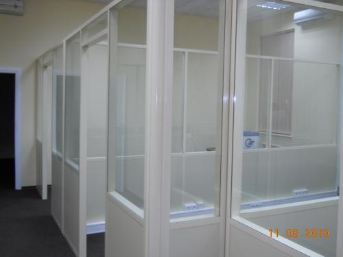Алюминиевые перегородки. Офисные, мобильные, стеклянные, санитарно - технические.