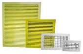 алюминиевые вентиляционные решетки - однорядные регулируемые, двухрядные регулируемые.