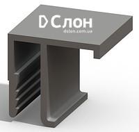 Алюминиевый F -профиль (припотолочный) для натяжных потолков. Вес 198гр/мп. Длина ламели 2,5м.