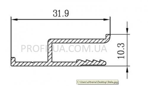 Алюминиевый h-профиль для натяжных потолков под заказ. Цена от производителя. Доставка по Украине
