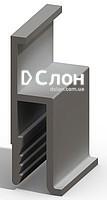 Алюминиевый h -профиль для натяжных потолков. Вес 198гр/мп. Цена 7 грн от пачки!