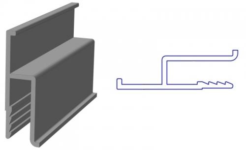 Алюминиевый профиль для натяжных потолков. Упаковка 50м. п.