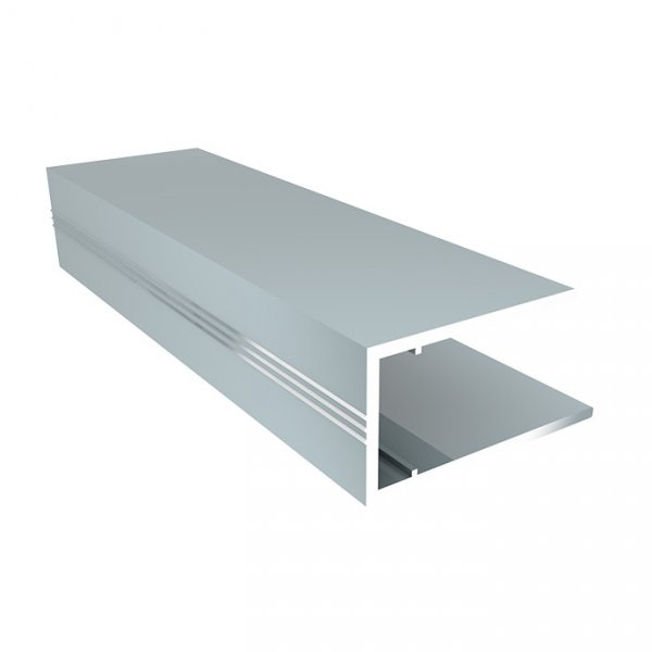 Алюминиевый торцевой профиль (АПТ) 10мм Solidprof 2.1м серебро