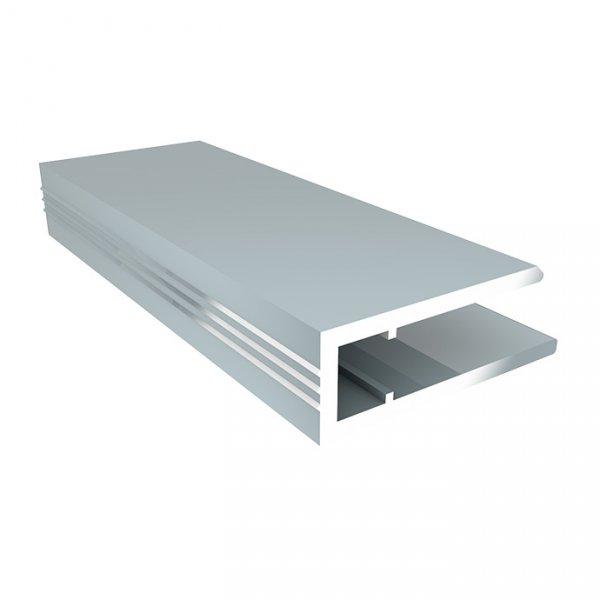 Фото  1 Алюминиевый торцевой профиль (АПТ) 4мм Solidprof 2.1м серебро 1832727