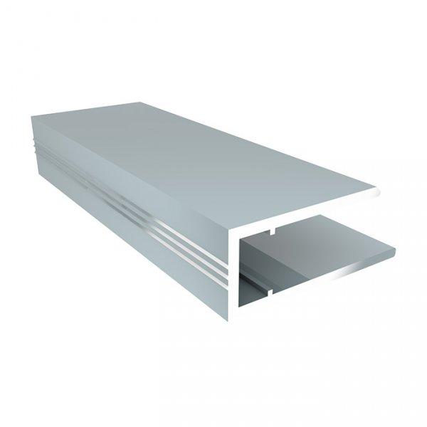 Фото  1 Алюминиевый торцевой профиль (АПТ) 6мм Solidprof 2.1м серебро 1832729