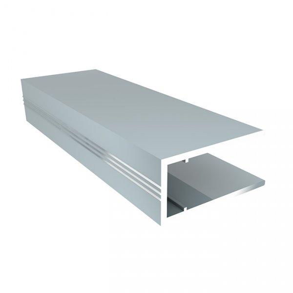 Алюминиевый торцевой профиль (АПТ) 8мм Solidprof 2.1м серебро