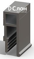 Алюминиевый усиленный П -профиль для натяжных потолков. Вес 212 гр/мп. Длина ламели 2,5м.