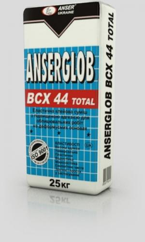 ANSERGLOB BCX 44 TOTAL, эластичный клей для поверхностей с повышенной плотностью и тяжелых камней. (кроме мрамора)