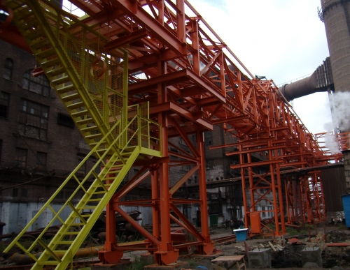 Антикоррозионное покрытие металлоконструкций промышленных зданий, эстакад