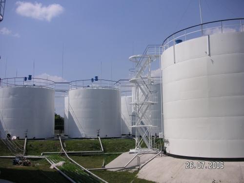 Антикоррозионное покрытие металлоконструкций резервуаров