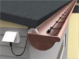 Антиобледенения водостоков,труб,кабель двужильный со встроенным термостатом  и вилкой 30 Вт/м Hemstedt DAS 55м.1650Вт