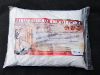 Антисептик с антипиреном, огнебиозащита для древесины 1 кг на 40м2
