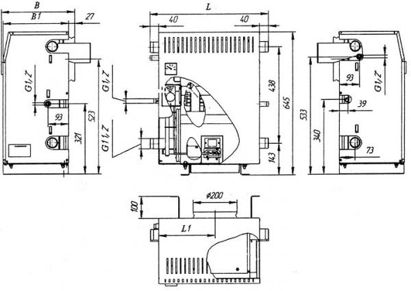Котел энергонезависимый АОГВ -10.5П