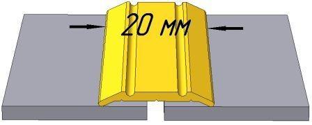 АП002 порог рифлённый одноуровневый, ширина 20мм, длина 0,9 м, цвета - серебро, золото, бронза