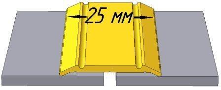 АП003 порог рифлённый одноуровневый, ширина 25мм, длина 2,7 м, цвета - серебро, золото, бронза