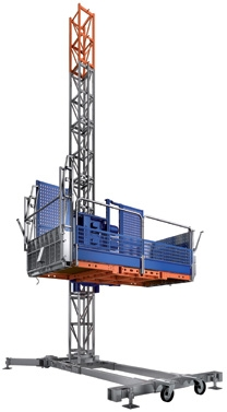 Аренда грузопассажирского подъемника Нек TPM 1300SD. Грузоподъемность: 1 300 кг. Макс. высота подъема: 200 м.