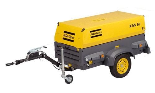 Аренда прокат дизельного компрессора AtlasCorpco, без залога, с шлангами и отбойными молотками, доставка.
