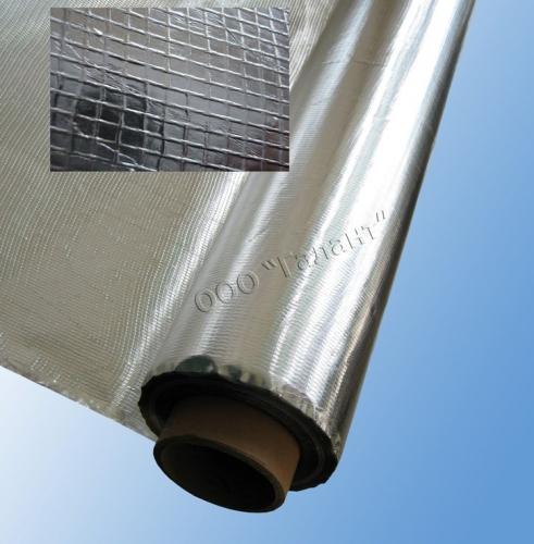 Армированный дуплекс. Стеклосетка, покрытая с двух сторон алюминиевой фольгой. Тепло- , паро-, гидро- и ветрозащиты.