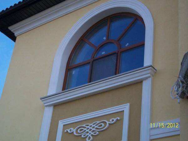 Арочные деревянные евроокна со сквозными импостами Сайт: http://okna-fram. com. ua