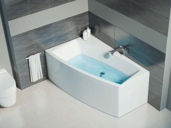 Асимметричная ванна Cersanit Virgo 150x90 L/R