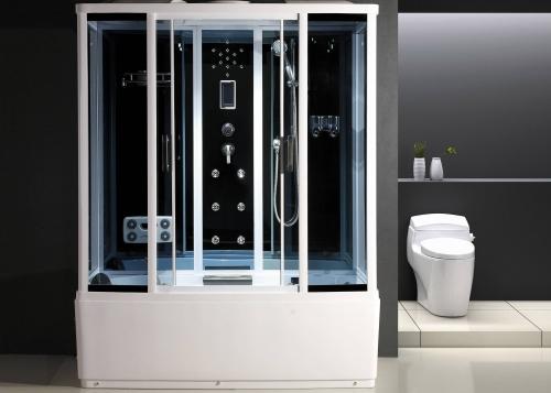 ATLANTIS 1107 88*170*218 стенки:синее зеркальное или серебристое стекло. Двери: тонированное синее или матовое стекло