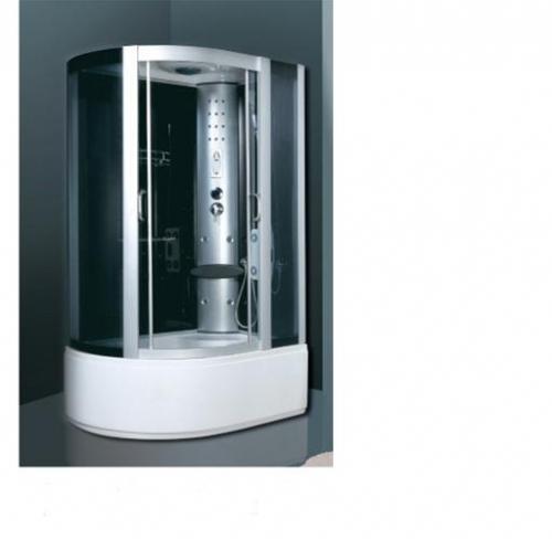 ATLANTIS A035 (L, R) Душевой бокс 81*121*210 Задние стенки: чёрные, двери: тонированое синее стекло.