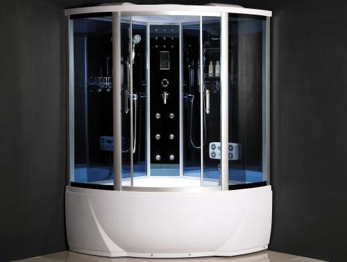 ATLANTIS ALK 1316 Душевой бокс 120*120*218 Задние стенки: синее зеркальное стекло, двери: тонированое синее стекло