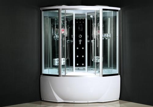 ATLANTIS ALK 1318 Душевой бокс 150*150*225 Задние стенки: синее зеркальное стекло, двери: тонированое синее стекло