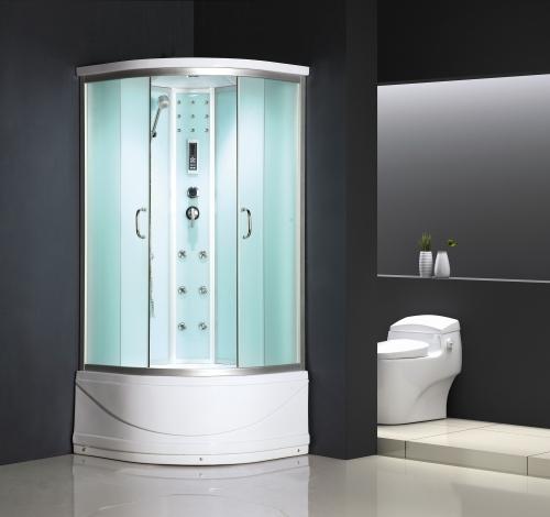 ATLANTIS ALK 60РB Душевой бокс 90*90*215 Задние стенки: серебристое непрозрачное стекло. Двери: матовое стекло.
