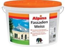 Атмосферостойкая фасадная краска Alpina FASSADENWEISS.