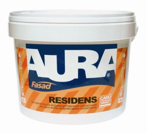 Aura Facade Residens 9 л. (краска в/дисперс. водоотталкивающая)